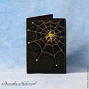 Обложки ручной работы. Ярмарка Мастеров - ручная работа Вышитая обложка на паспорт Паутина. Handmade.