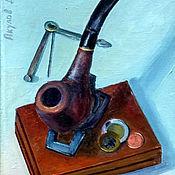 """Картины ручной работы. Ярмарка Мастеров - ручная работа Картина маслом """"Трубка"""". Handmade."""