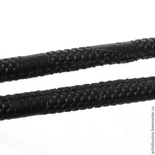 Для украшений ручной работы. Ярмарка Мастеров - ручная работа. Купить шнур кожа 5мм. Handmade. Черный, кожаный шнур