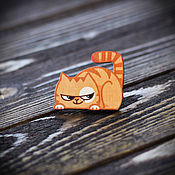 Украшения handmade. Livemaster - original item Wooden icon cat Peach. Handmade.