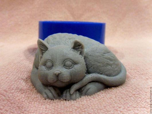 """Другие виды рукоделия ручной работы. Ярмарка Мастеров - ручная работа. Купить Силиконовая форма для мыла """"Кот"""". Handmade."""