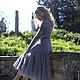 "Платья ручной работы. платье ""Сиреневый туман"". Jannetta knits  Luxury handmade. Ярмарка Мастеров. Мохер"