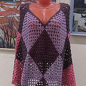 """Одежда ручной работы. Ярмарка Мастеров - ручная работа Полупончо """"для высоко женщины"""". Handmade."""
