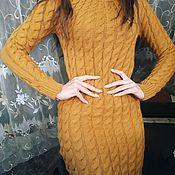 Одежда ручной работы. Ярмарка Мастеров - ручная работа Платье Энжи теплое. Handmade.