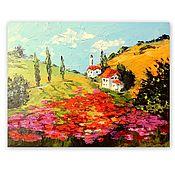 Картины и панно handmade. Livemaster - original item Painting Tuscan landscape in oil. Handmade.