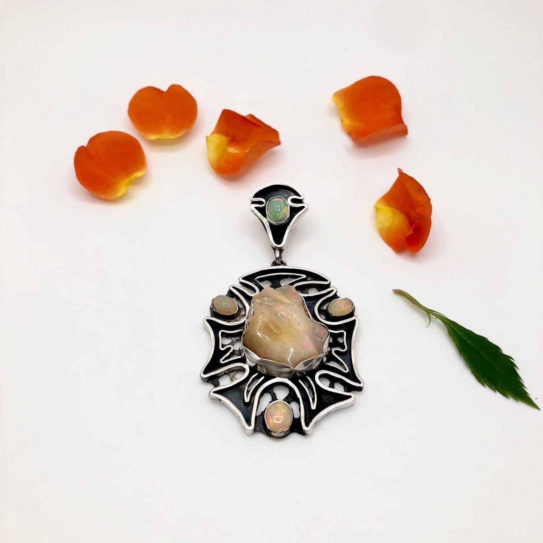 Pendant with opals b, Pendant, Feodosia,  Фото №1