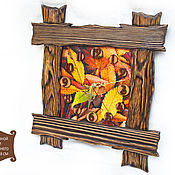 """Для дома и интерьера ручной работы. Ярмарка Мастеров - ручная работа Деревянные часы """"Осень"""". Handmade."""