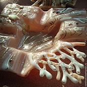 Для дома и интерьера handmade. Livemaster - original item Glass ashtray Pink coral, fusing. Handmade.