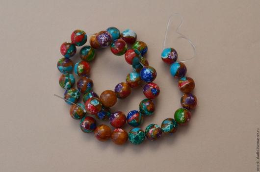 Для украшений ручной работы. Ярмарка Мастеров - ручная работа. Купить Бусины турквенит шар, 10мм. Handmade. Комбинированный, турквенит