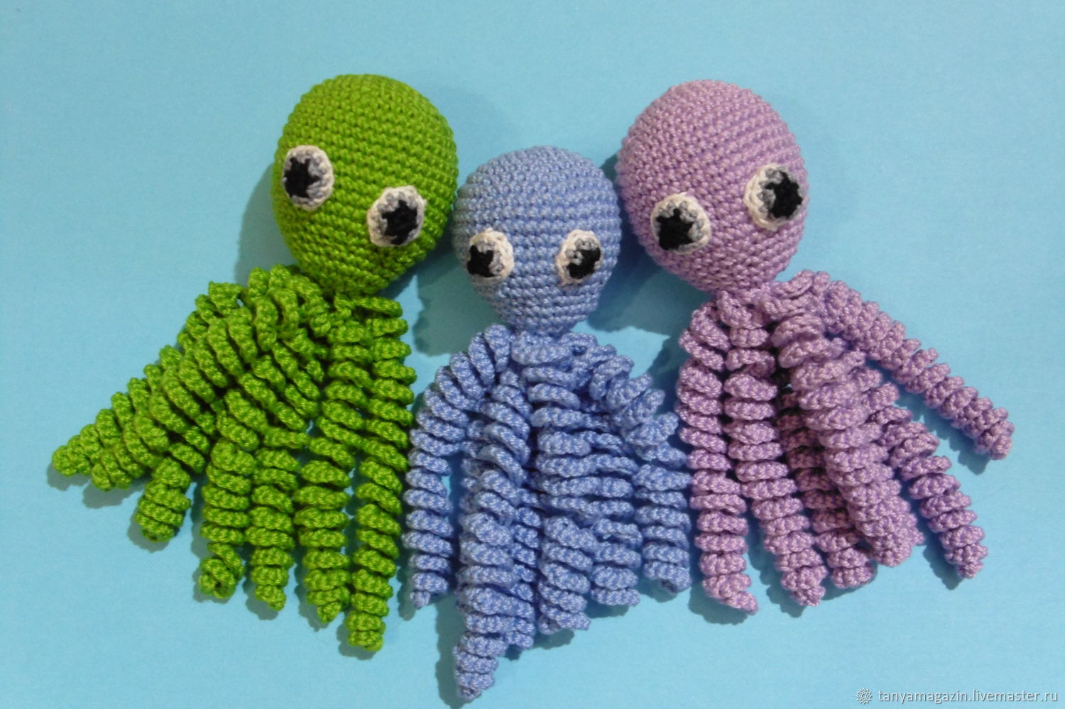 Knitted Octopussy for newborns. Octopussy.Guardian, Stuffed Toys, Sarapul,  Фото №1