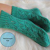 Материалы для творчества ручной работы. Ярмарка Мастеров - ручная работа Инструкция Носки Бирюза,носки,носки вязаные,купить вязаные носки. Handmade.