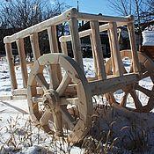 Для дома и интерьера ручной работы. Ярмарка Мастеров - ручная работа Арба - декоративная телега из дерева для дачи. Handmade.