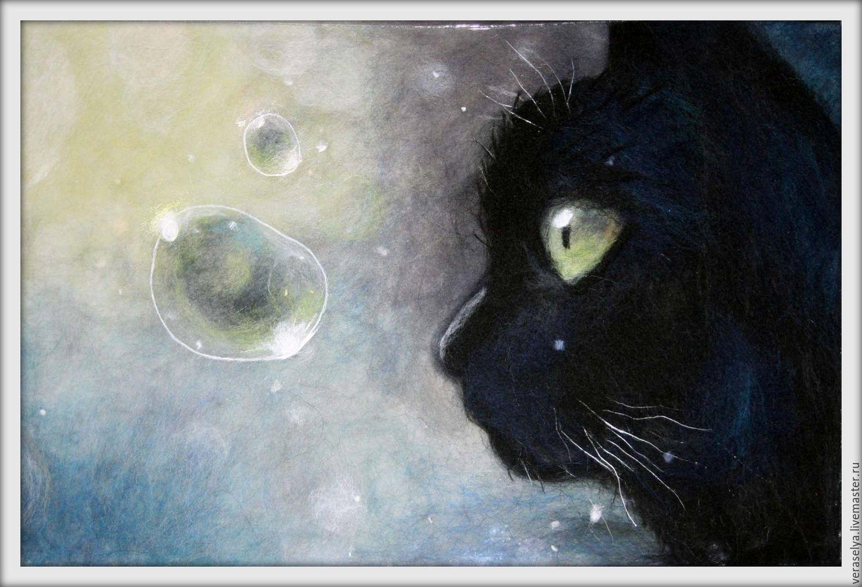 Черный кот на картинах