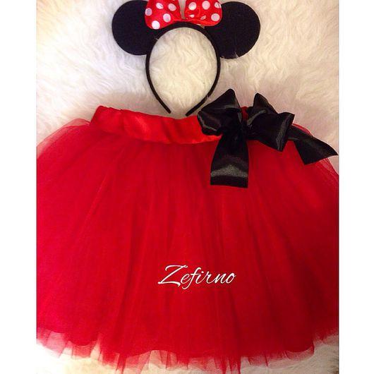 Одежда для девочек, ручной работы. Ярмарка Мастеров - ручная работа. Купить Детская юбка из фатина Красного цвета с подкладом, пояс на резинке. Handmade.