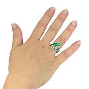 Украшения handmade. Livemaster - original item Ring snake. Malachite. Mother of pearl. Ring, natural stones.. Handmade.
