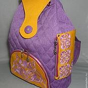 Сумки и аксессуары ручной работы. Ярмарка Мастеров - ручная работа Рюкзак текстильный Фиолет. Handmade.