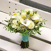 Свадебные букеты ручной работы. Ярмарка Мастеров - ручная работа Букет невесты -  Лимонно-белый. Handmade.
