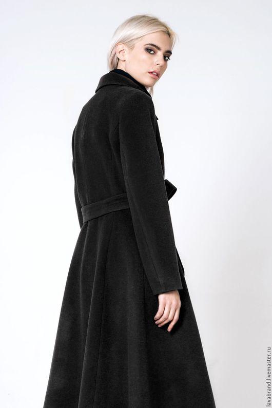 Верхняя одежда ручной работы. Ярмарка Мастеров - ручная работа. Купить Пальто расклешенное Черное. Handmade. Черный, пальто кашемировое