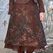 """Одежда ручной работы. Ярмарка Мастеров - ручная работа Валяная юбка """"Шоколадная глазурь - 2"""". Handmade."""