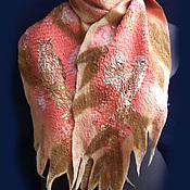 Аксессуары ручной работы. Ярмарка Мастеров - ручная работа валяный шарф    СОВА и солнечный луч. Handmade.
