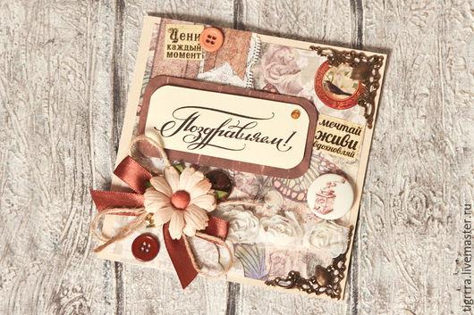 """Открытки на все случаи жизни ручной работы. Ярмарка Мастеров - ручная работа. Купить Открытка """"Поздравляем!"""" (открытка ручной работы). Handmade."""