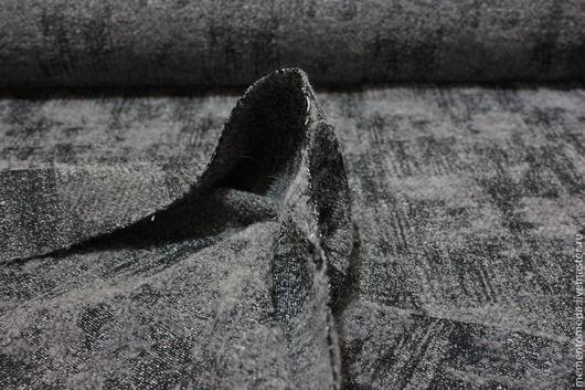 """Шитье ручной работы. Ярмарка Мастеров - ручная работа. Купить Ткань букле """"Серо-черная"""". Handmade. Серый, костюмная ткань"""