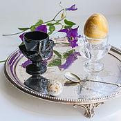 Винтаж handmade. Livemaster - original item Vintage glass poached chicken dishes France. Handmade.
