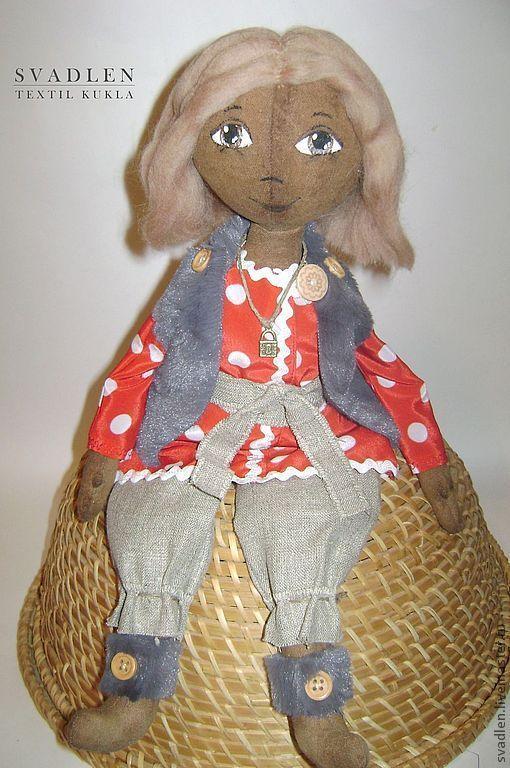 Человечки ручной работы. Ярмарка Мастеров - ручная работа. Купить Домовенок - текстильная кукла для интерьера. Handmade. Домовой, куклы и игрушки