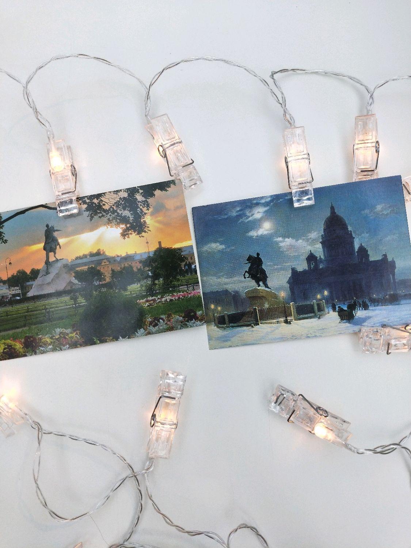 Гирлянда с прищепками для фото, Ночники, Санкт-Петербург,  Фото №1