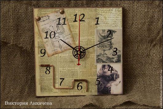 """Часы для дома ручной работы. Ярмарка Мастеров - ручная работа. Купить Часы """"Отголоски ушедшего времени"""". Handmade. Коричневый"""