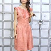 Одежда handmade. Livemaster - original item Coral felted dress