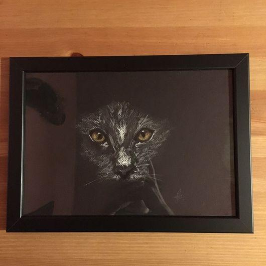 """Животные ручной работы. Ярмарка Мастеров - ручная работа. Купить Картина """"Кот"""". Handmade. Картина в подарок, картина на заказ"""