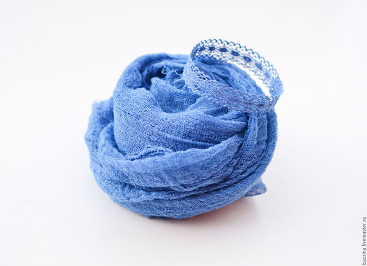 Для новорожденных, ручной работы. Ярмарка Мастеров - ручная работа. Купить Кружевная корона для новорожденных + обмотка синий. Handmade.