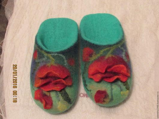 Обувь ручной работы. Ярмарка Мастеров - ручная работа. Купить Тапочки -шлёпки  сделаны на мастер-классе у Смольяниновой Натальи.. Handmade.