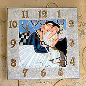 Для дома и интерьера ручной работы. Ярмарка Мастеров - ручная работа настенные часы Свадьба. Handmade.