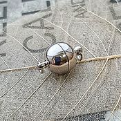 Материалы для творчества handmade. Livemaster - original item The magnetic lock 10 mm platinum (1930). Handmade.