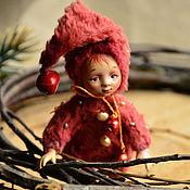 Куклы и игрушки ручной работы. Ярмарка Мастеров - ручная работа Эльф. Миниатюрная кукла, мини интерьерная игрушка. Handmade.