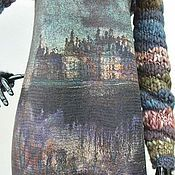 Одежда handmade. Livemaster - original item Felted dress Old castle Brown. Handmade.