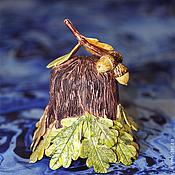 Сувениры и подарки handmade. Livemaster - original item Autumn oak tree - bell. Handmade.