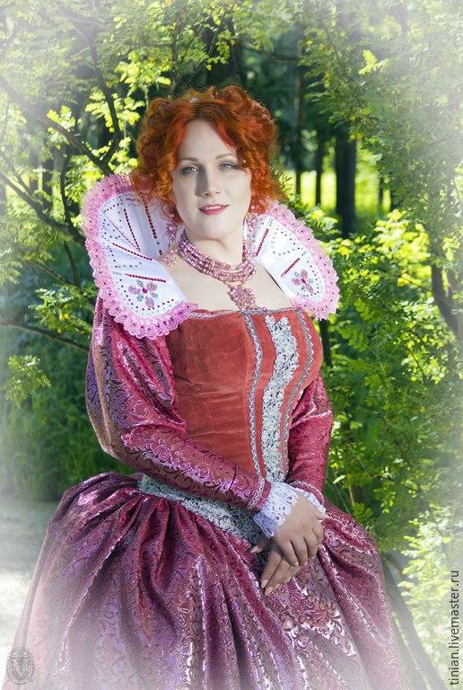 Карнавальные костюмы ручной работы. Ярмарка Мастеров - ручная работа. Купить КОРОЛЕВА ЕЛИЗАВЕТА. Handmade. Разноцветный, красивое платье, кружево