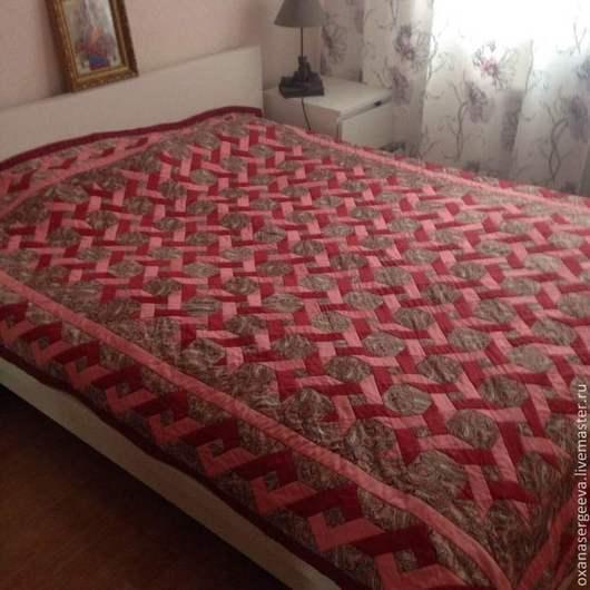 Текстиль, ковры ручной работы. Ярмарка Мастеров - ручная работа. Купить Плетенка. Handmade. Лоскутное шитье, покрывало на кровать, подарок
