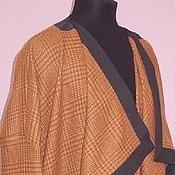 Одежда ручной работы. Ярмарка Мастеров - ручная работа Пальто-накидка в клеточку. Handmade.
