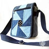 Сумки и аксессуары handmade. Livemaster - original item Bag tablet women`s shoulder denim. Handmade.
