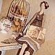 Куклы Тильды ручной работы. Кофейная Тильда  с открыткой в Бохо стиле. 'to do miracle' (eremo44ka). Ярмарка Мастеров.