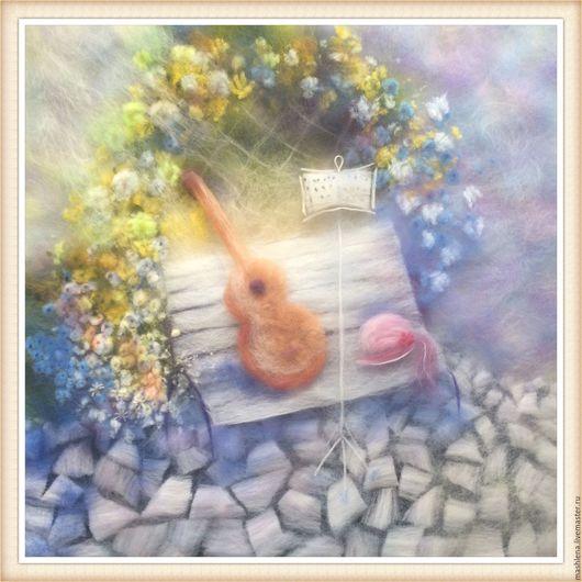Натюрморт ручной работы. Ярмарка Мастеров - ручная работа. Купить Краски весны. Картина из шерсти. Handmade. Комбинированный, шерстяная акварель