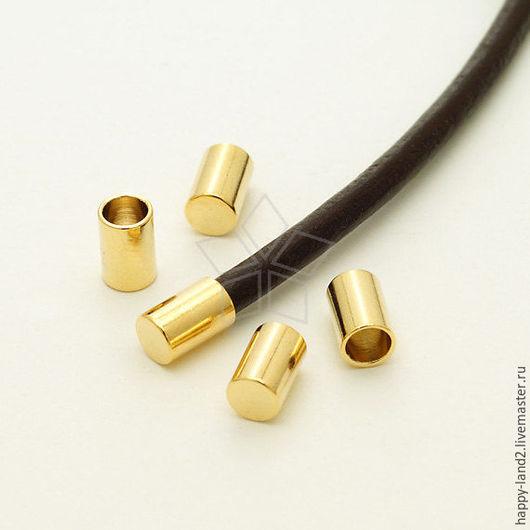 Для украшений ручной работы. Ярмарка Мастеров - ручная работа. Купить Заглушка для шнура  3мм, 2 покрытия , Южная Корея. Handmade.