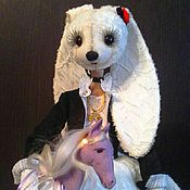 Куклы и игрушки ручной работы. Ярмарка Мастеров - ручная работа Девочка припевочка зайка. Стеша. Handmade.