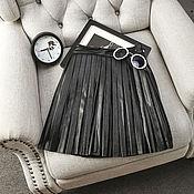 Одежда ручной работы. Ярмарка Мастеров - ручная работа Плиссированная юбка, р.40-42. Handmade.