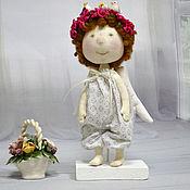 Куклы и игрушки ручной работы. Ярмарка Мастеров - ручная работа Текстильная кукла Ангел с птичками. Handmade.