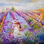 handmade. Livemaster - original item In the rays of Provence-a large painting on canvas. Handmade.